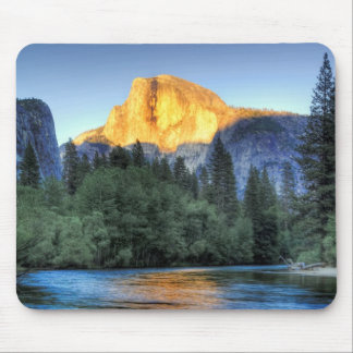 Golden Light on Half Dome Mouse Pad