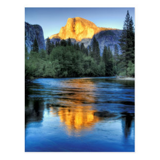 Golden Light on Half Dome Postcard