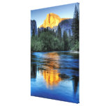Golden Light on Half Dome Stretched Canvas Print