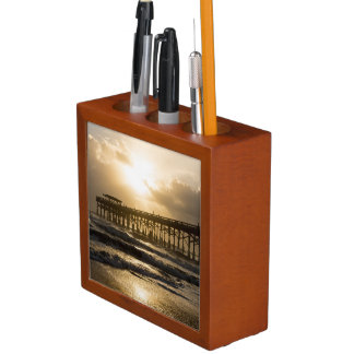 Golden Light Over Cocoa Desk Organiser