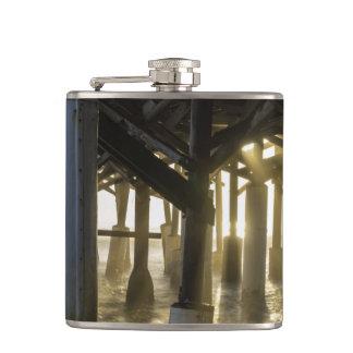 Golden Light Shines Through Flasks