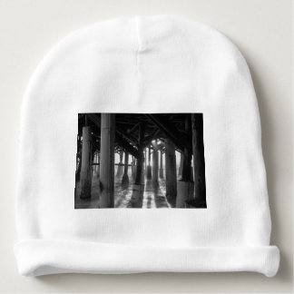 Golden Light Shines Through Grayscale Baby Beanie