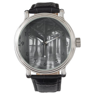 Golden Light Shines Through Grayscale Watch
