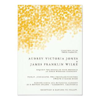 Golden Light Shower | Pretty Wedding Invitations