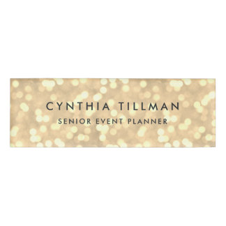 Golden Lights Name Tag