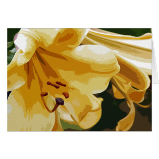 Golden Lillies Card
