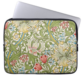 Golden Lily by William Morris Laptop Sleeve