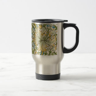 Golden Lily by William Morris Travel Mug