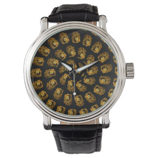 Golden Lion Head Abstract Pattern, Watch