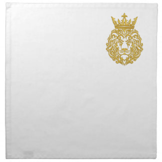 golden lion in the crown - imitation of embroidery napkin