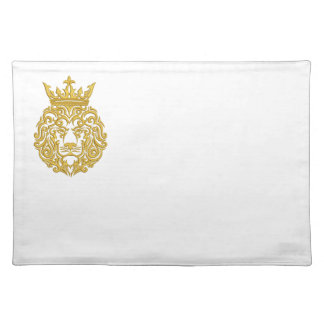 golden lion in the crown - imitation of embroidery placemat