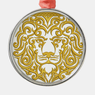 golden lion in the crown metal ornament