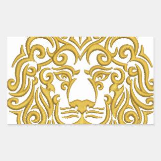 golden lion in the crown rectangular sticker