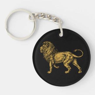 Golden Lion Key Ring