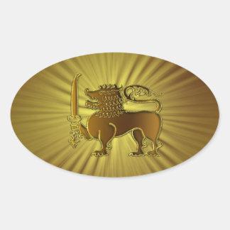 Golden Lion Sri Lanka stickers