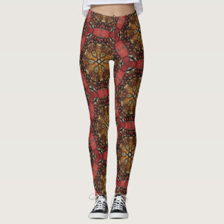 Golden Lion Star Kaleidoscope Leggings