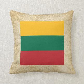 Golden Lithuania Flag Throw Pillow