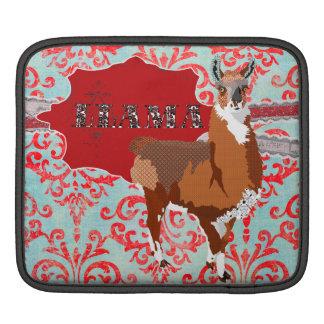 Golden Llama Damask  iPad Sleeve