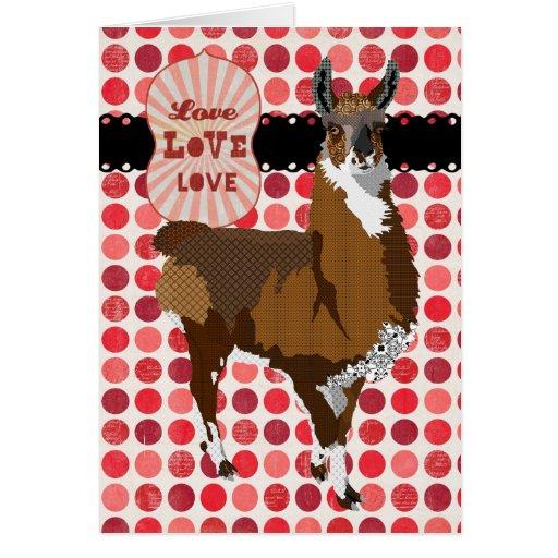 Golden Llama  Love Greeting Greeting Card