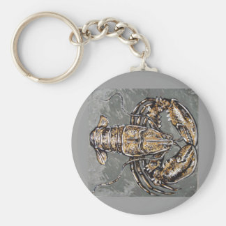 GOLDEN LOBSTER BASIC ROUND BUTTON KEY RING