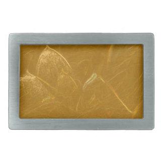 GOLDEN LOTUS Artistic Gold Foil Art Rectangular Belt Buckles