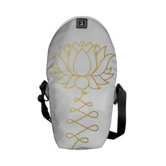 Golden Lotus Dharma Messenger Bag