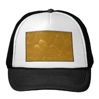 GOLDEN LOTUS FLOWER DECORATIVE GIFTS TRUCKER HAT