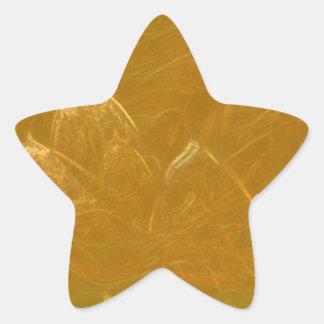 GOLDEN LOTUS Flower Floral Embossed ADD TEXT PHOTO Star Sticker