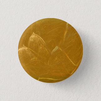 Golden LOTUS Flower Petals graphic art 3 Cm Round Badge