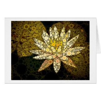 Golden Lotus Mosaic Greeting Card