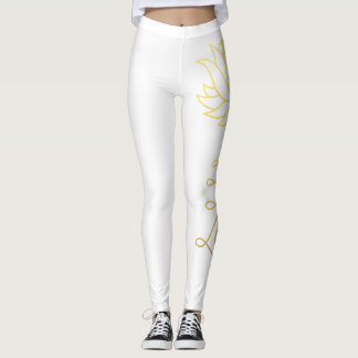 Golden Lotus Yoga Leggings
