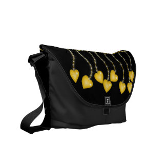 Golden Love Charms Courier Bag
