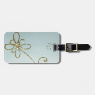 Golden Luggage Tag