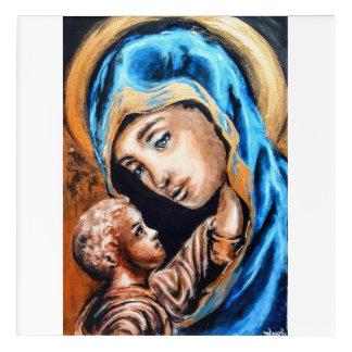 Golden Madonna and child Acrylic Print
