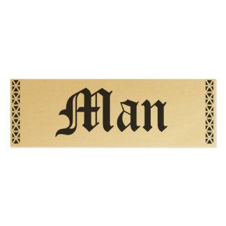Golden Man Card Business Card Templates