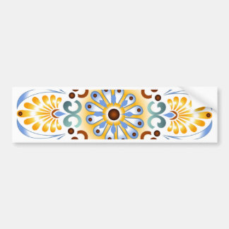 Golden Mandala Bumper sticker