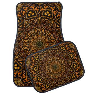 Golden Mandala Car Mat