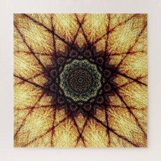 Golden Mandala Jigsaw Puzzle