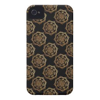 Golden Mandalas on Black Case-Mate iPhone 4 Case