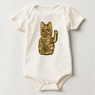 Golden Maneki Neko Baby Bodysuit