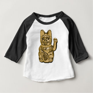Golden Maneki Neko Baby T-Shirt