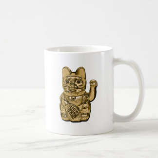 Golden Maneki Neko Coffee Mug