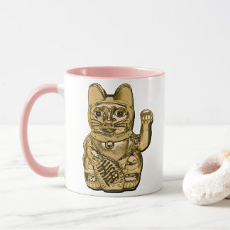 Golden Maneki Neko Mug