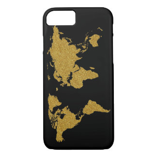 golden map of Earth iPhone 7 Case