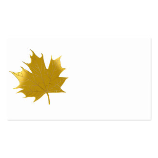 Golden maple leaf business card templates