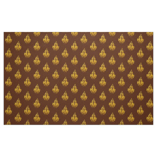 Golden Maple Leaf Fabric
