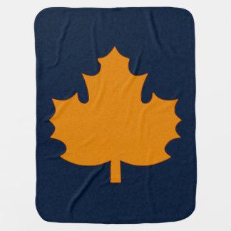 Golden Maple Leaf Motif Buggy Blanket
