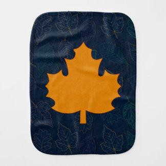 Golden Maple Leaf Motif Burp Cloth