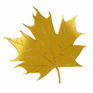 Golden maple leaf cut out