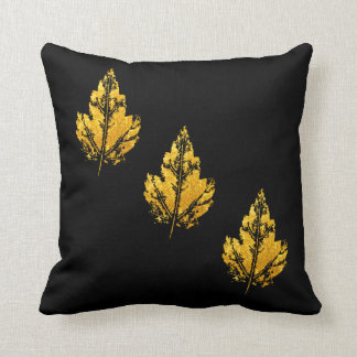 Golden Maple Leaf Pillow Throw Cushion